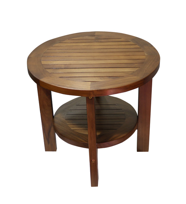 Ala Teak Indoor Outdoor Patio Garden Yard Bath Coffee Side Round Table - ALA TEAK