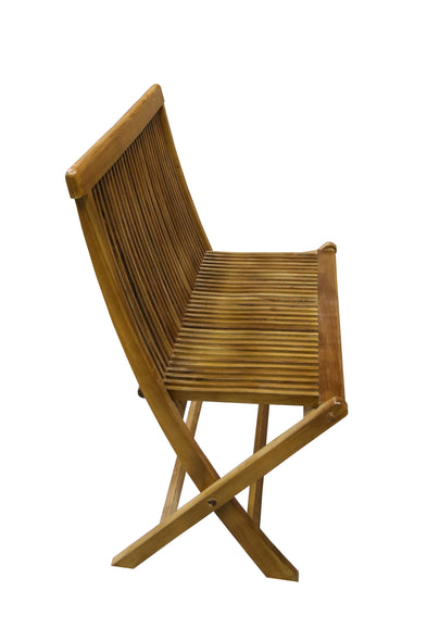 Ala Teak Wood indoor Outdoor Patio Garden Yard Folding Chair Seat Teak Chair - ALA TEAK