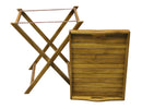 Ala Teak Wood Removable Serving Tray Table - ALA TEAK