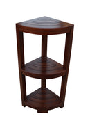 ALA TEAK Corner Teak Wood Bath Spa Shower Stool Corner Shelf Storage Fully Assembled - ALA TEAK