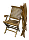 ALA TEAK 2 Piece Wood Indoor Outdoor Patio Garden Yard Folding Seat Arm Chair Set - ALA TEAK