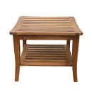 Ala Teak Indoor Outdoor Patio Garden Yard Bath Shower Spa Waterproof Stool Bench Fully Assembled - ALA TEAK