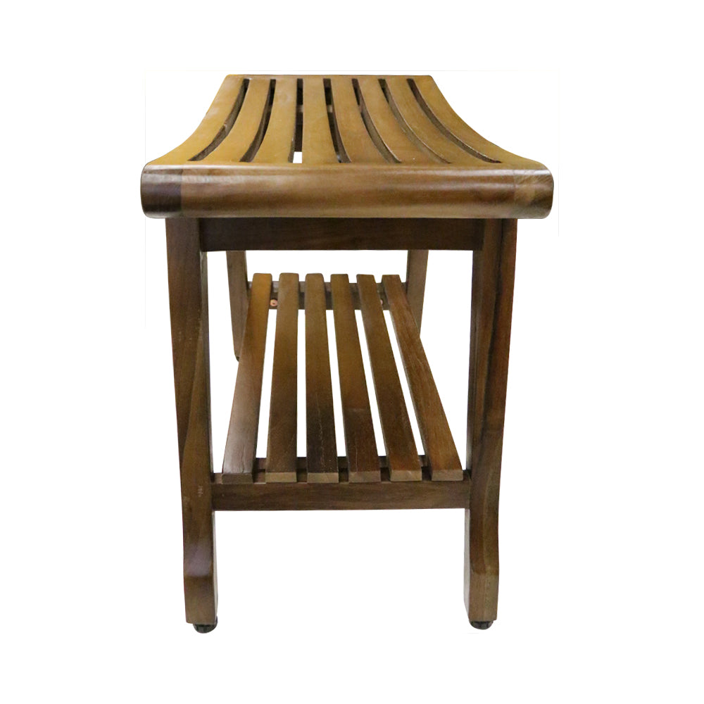 Ala Teak Shower Spa Bath Waterproof Stool Bench