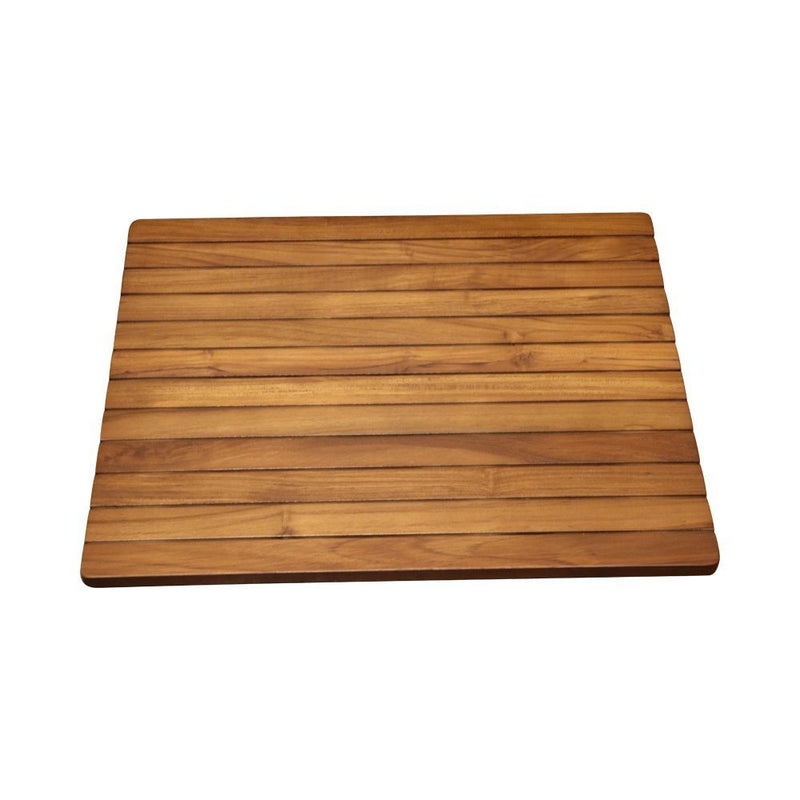 ALA TEAK Wood Grate Shower Bath Spa Waterproof Floor Door Mat Brown - ALA TEAK