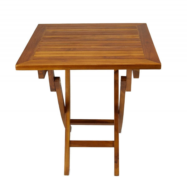 Ala Teak Wood Patio Outside Garden Yard Folding Table - ALA TEAK