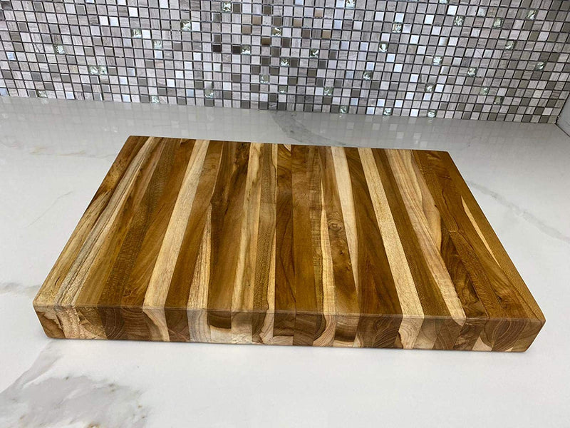 Ala Teak Wood Premium Rectangle Cutting Board Large Butcher Heavy Duty Block - ALA TEAK