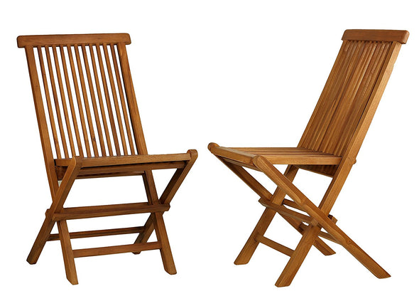 Ala Teak Wood indoor-outdoor Folding Teak Chair (Set of 2 chairs) - ALA TEAK