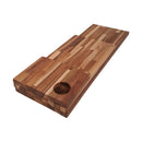Ala Teak Wood Premium Rectangle Cutting Board Set Large Butcher Block with Handle - 3 Pcs