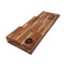 Ala Teak Wood Premium Rectangle Cutting Board Set Large Butcher Block with Handle - 3 Pcs - ALA TEAK