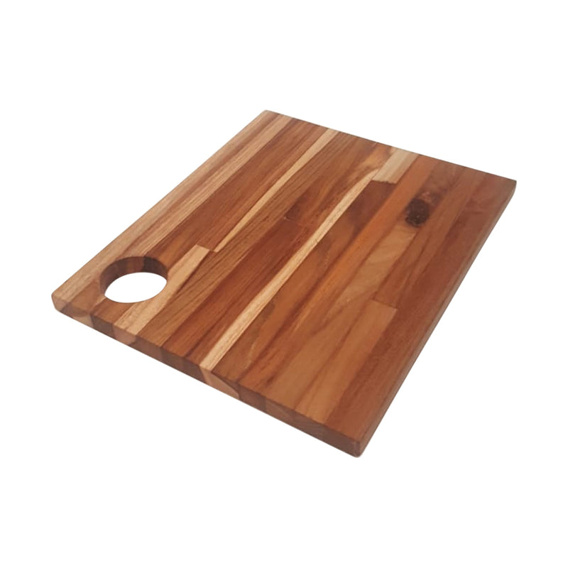 Ala Teak Wood Premium Rectangle Cutting Board Large Butcher Block with Handle