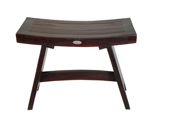 Ala Teak 24 Serenity Shower Bath Spa Waterproof Bench Stool With Cross Bar - ALA TEAK
