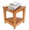ALA TEAK Corner Teak Wood Bath Spa Shower Stool Corner Table Bench Stool Fully Assembled - ALA TEAK