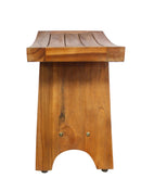 ALA TEAK Teak Wood Serenity Spa Shower Bath Waterproof Bench Stool - ALA TEAK