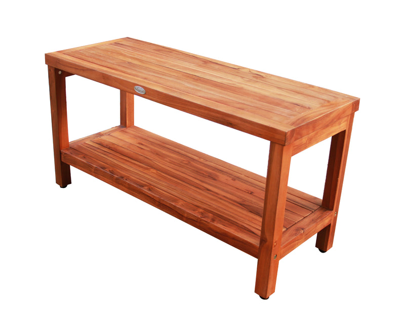Ala Teak Wood Patio Garden Indoor Outdoor Yard Coffee Side Table Waterproof Bath Spa Shower Shelf Storage Easy Assemble - ALA TEAK