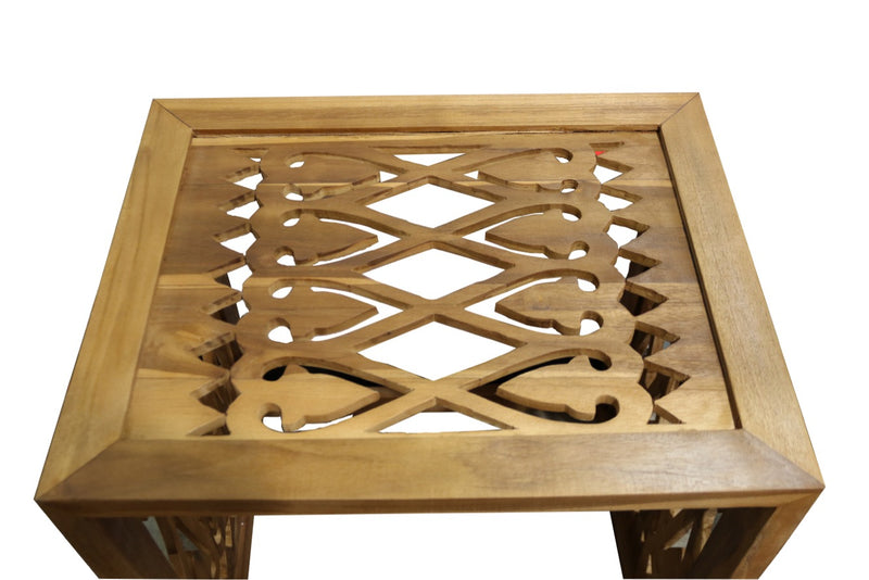 Ala Teak Indoor Outdoor Waterproof Nesting Table Set of 3 - ALA TEAK