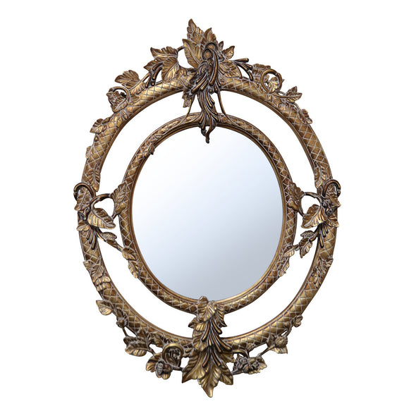 Classical Empire Hand Carved gold gilded and patena brushed Mirror - ALA TEAK