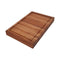 Ala Teak Wood Premium Rectangle End Grain Cutting Board Large Heavy Duty Butcher Block with Juice Canal - ALA TEAK