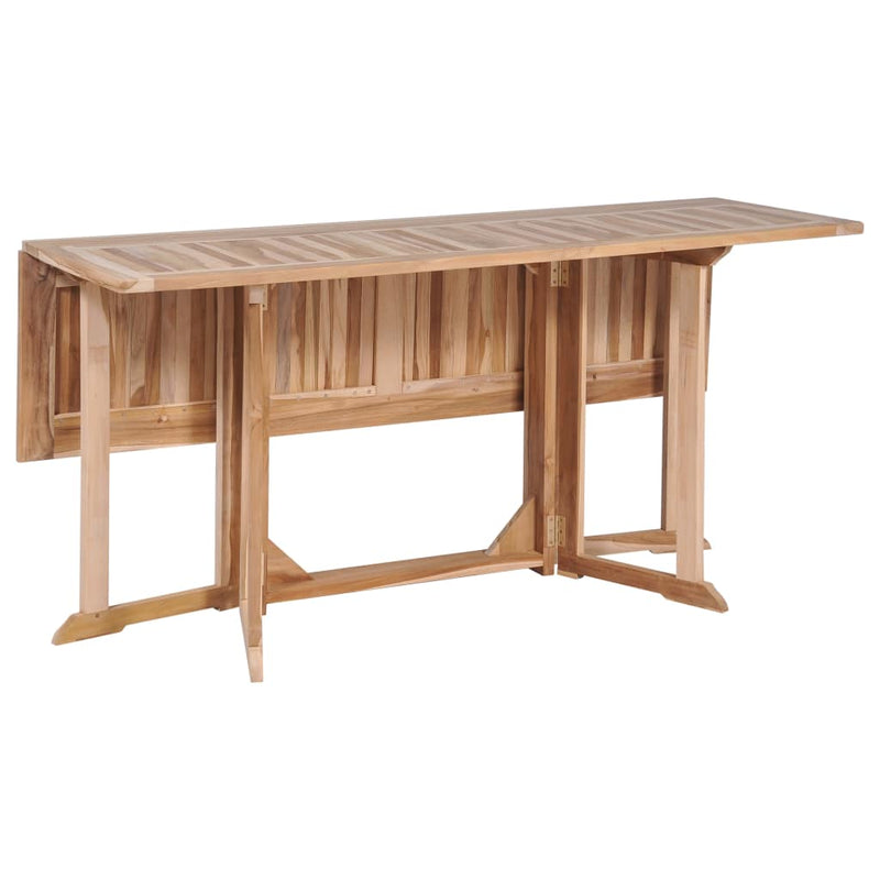 Folding Butterfly Dining Table Solid Teak 150x90x75 cm - ALA TEAK