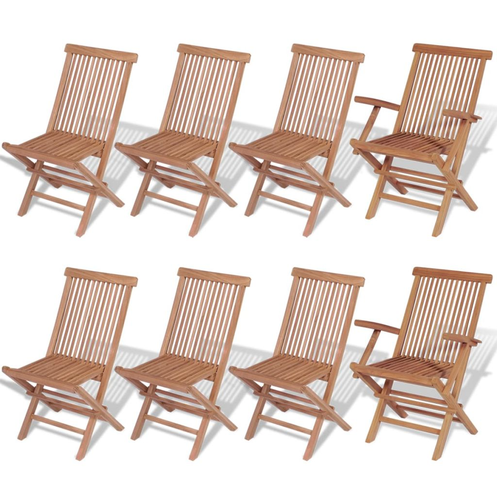 Outdoor Dining Set 9 Pieces Teak - ALA TEAK
