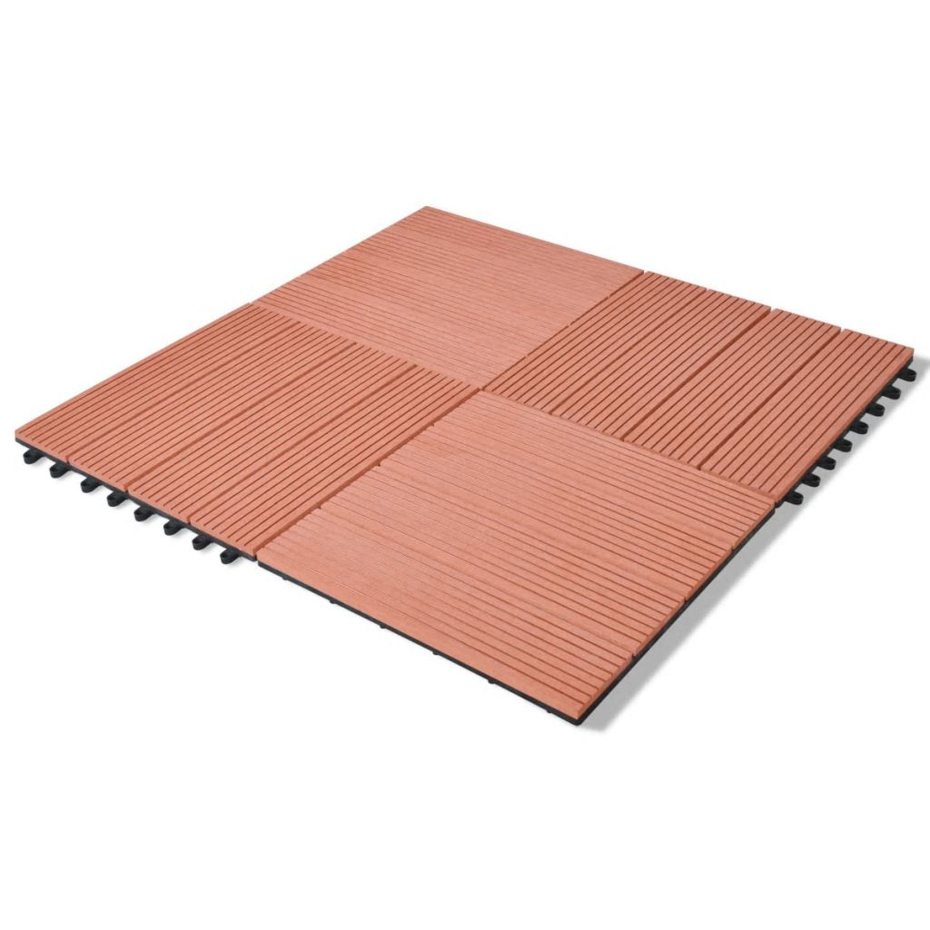 WPC Tiles 30x30cm 11pcs 1m2 Brown - ALA TEAK