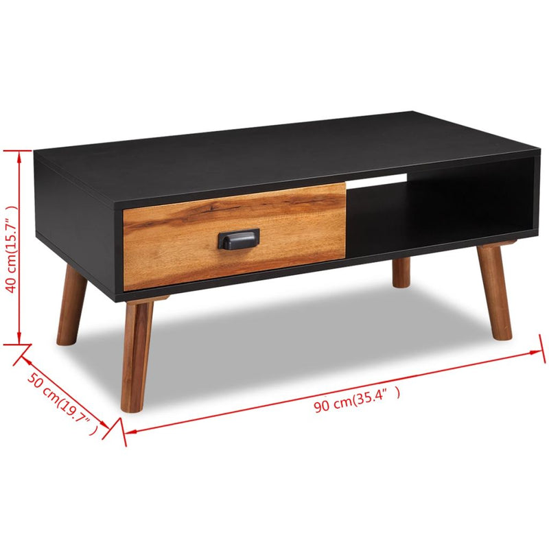 Solid Acacia Wood Coffee Table 90x50x40 cm - ALA TEAK
