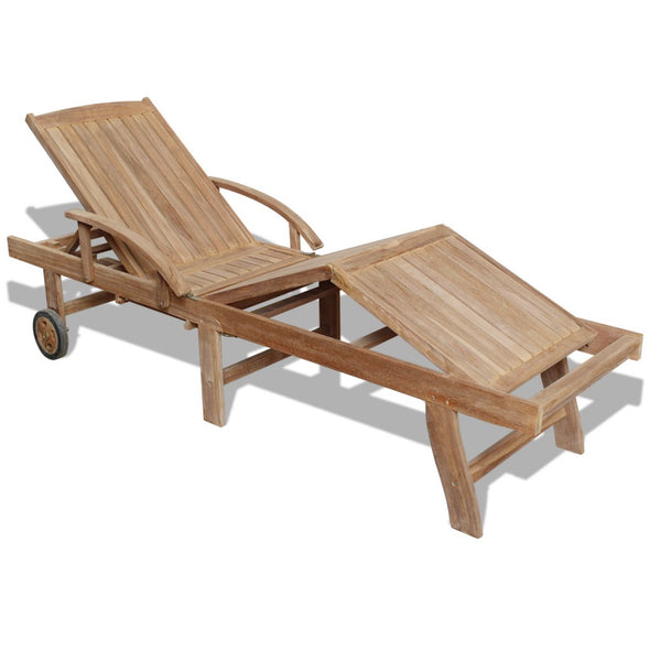 Sunlounger Teak 195x59.5x35 cm Adjustable 5Position - ALA TEAK
