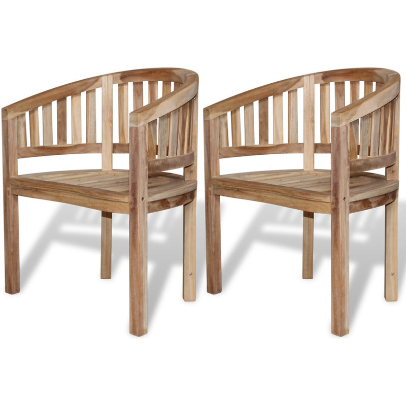 Teak Banana Chair 2 pcs - ALA TEAK