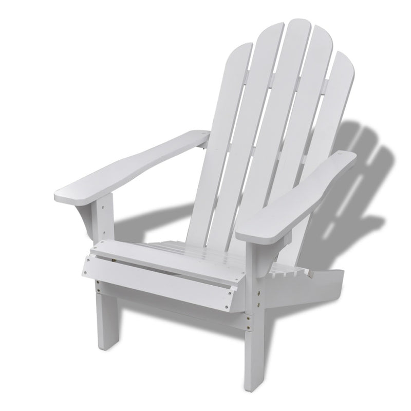 Wood Chair Living Room Garden White - ALA TEAK