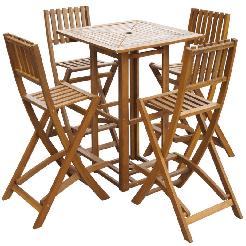 Outdoor Bar Set 5 Pieces Acacia Wood - ALA TEAK