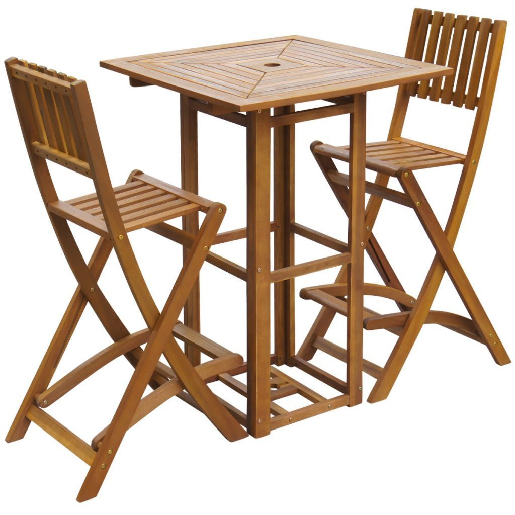 Outdoor Bar Set 3 Pieces Acacia Wood - ALA TEAK