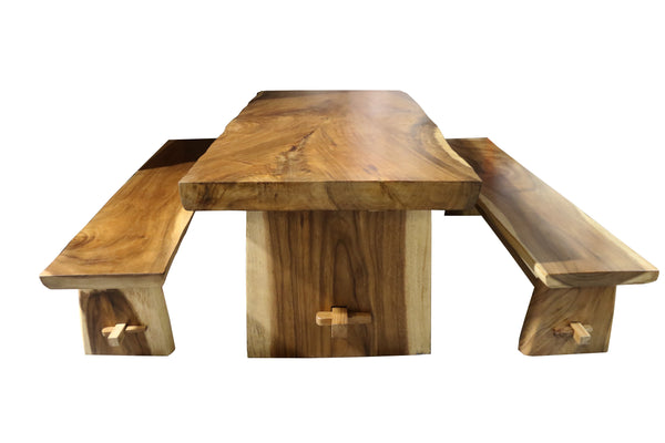 Ala Teak Wood Patio Outside Garden Yard Table, Waterproof Teak - ALA TEAK