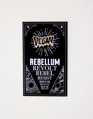 Vegan pin (negro)