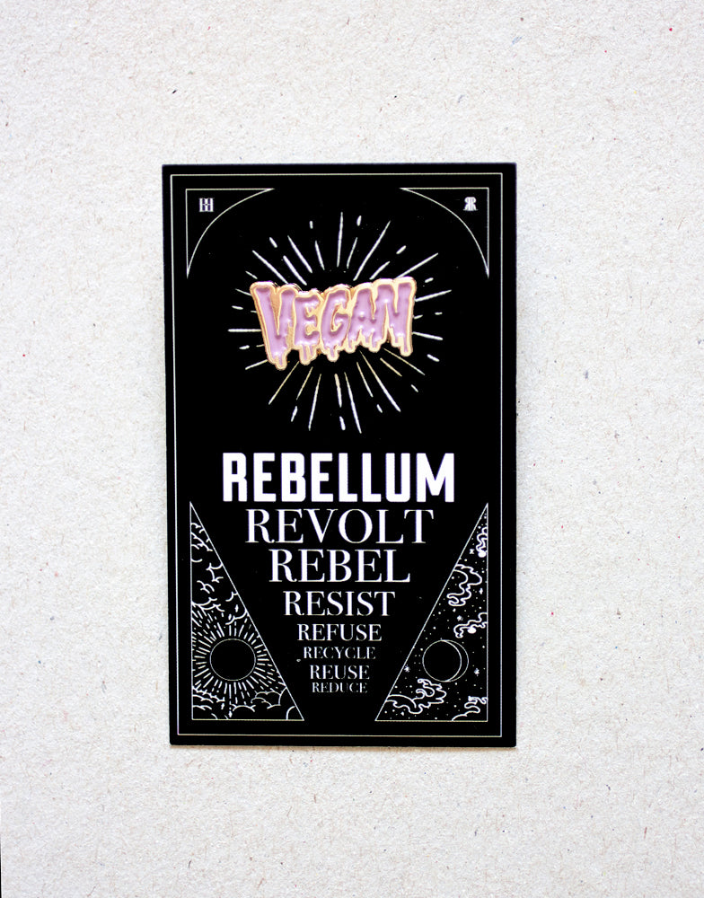 Vegan pin (rosa)