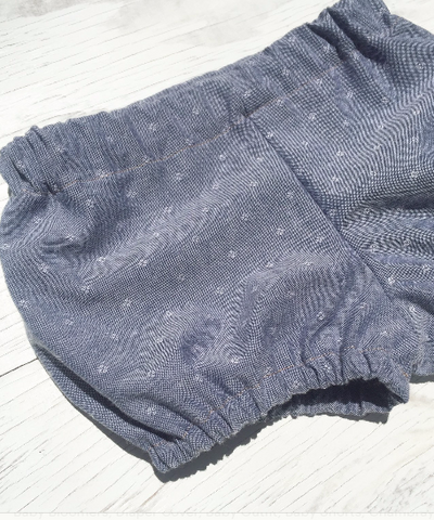 Alma & June Handmade Bloomers in Chambray
