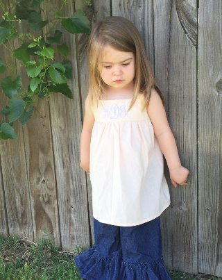 Alma & June Handmade Tunic with Monogram
