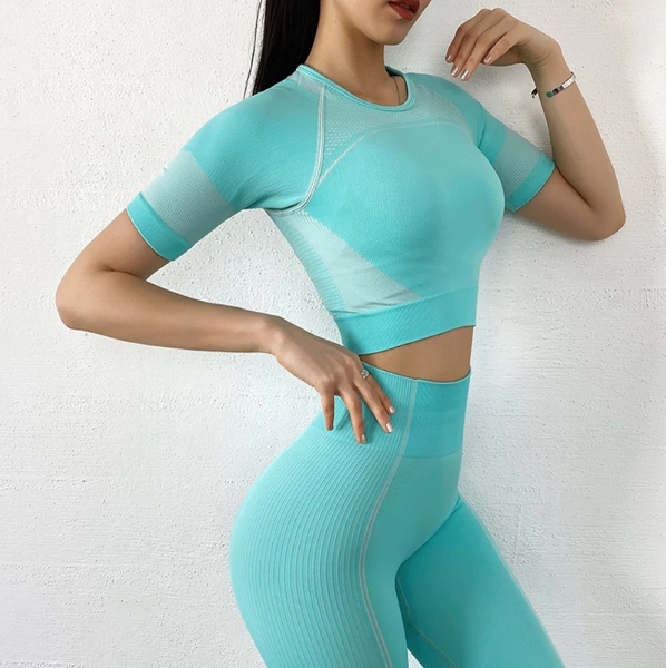 'Stapl' Fitness Leggings and Crop Top