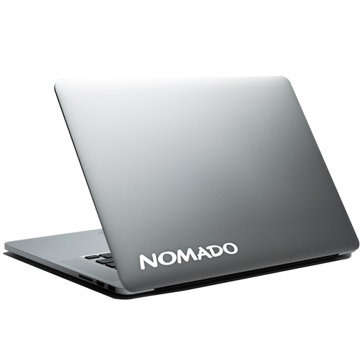 NOMADO Logo Laptop / Car Sticker Vinyl Decal - By NOMADO