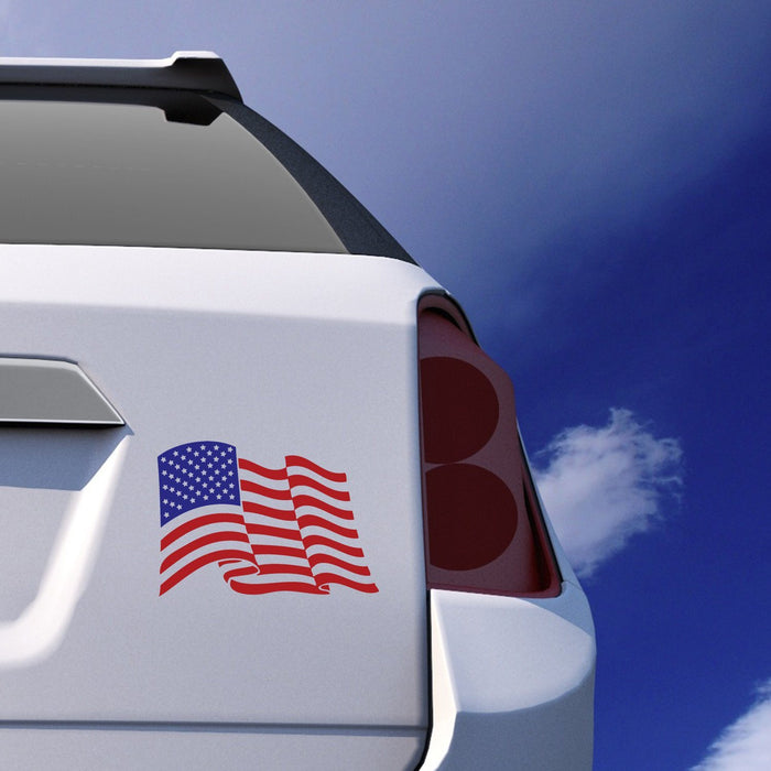 USA American Flag Car Sticker Vinyl Decal - By NOMADO