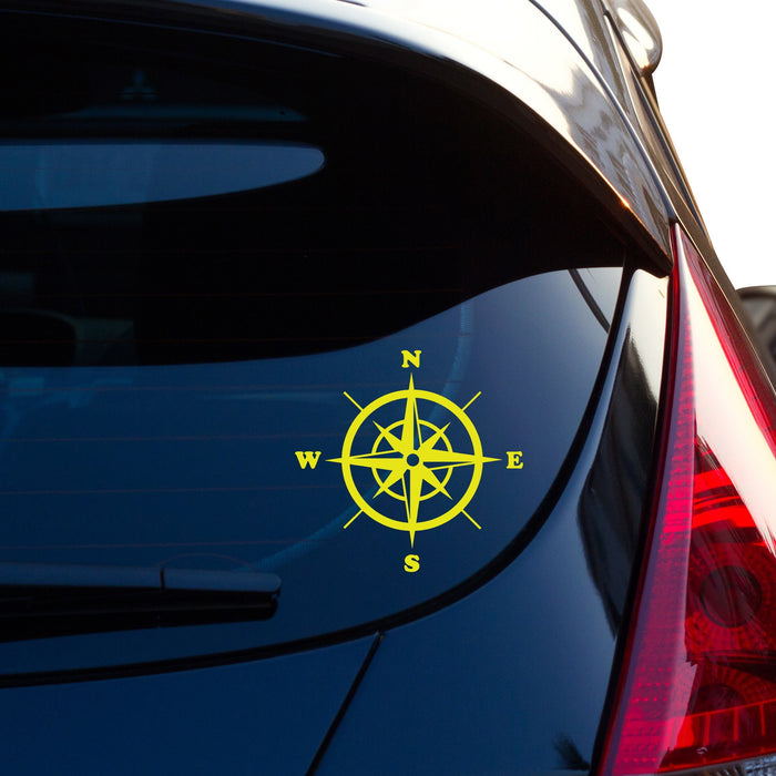 Compass Car Sticker Vinyl Decal - By NOMADO