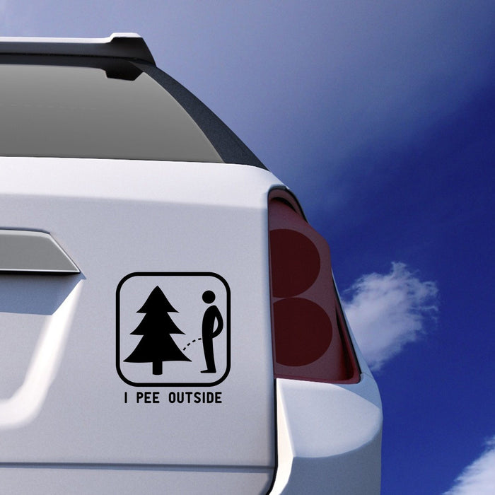 I Pee Outside Car Sticker Vinyl Decal - By NOMADO
