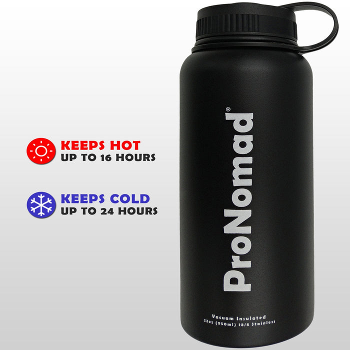 32 Oz. Vacuum Insulated Thermos Water Bottle - By NOMADO