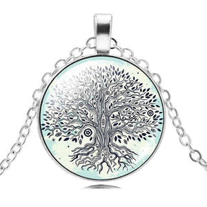 Tree of Life Shaped Choker Long Pendant Necklace