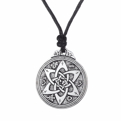 Flower of Life Knot Pendant Vintage Necklace