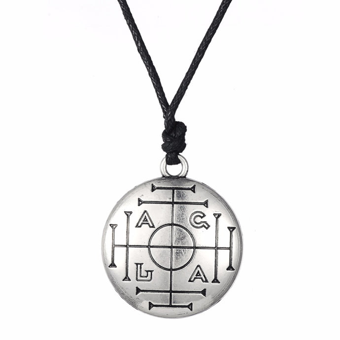 Medieval Talisman for Wealth Pentacle Pendant Necklace