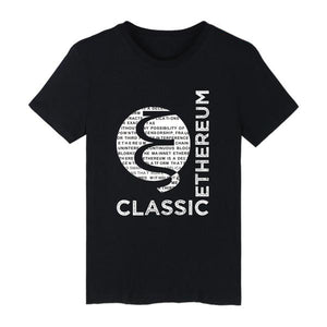 Ethereum Classic 100% Cotton T-shirt Short Sleeves