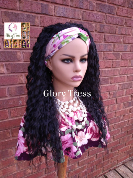 NEW ARRIVAL // Headband Half Wig - Loose Curly Wig - Black Wig - Beginner Friendly Wig - Glory Tress Wigs - African American Wig // JOURNEY