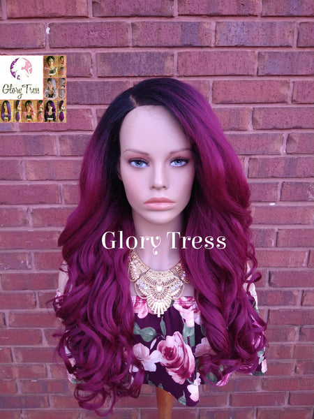 Curly Lace Front Wig, Pre- Plucked, Wigs, Glory Tress, Yaki Texture, HD Transparent Lace, 13 x 6 Free Parting // Peaceful