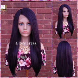 Kinky Straight Lace Front Wig, Natural Yaki Straight Wig, African American Wig, Glory Tress, Ready To Ship // PRECIOUS