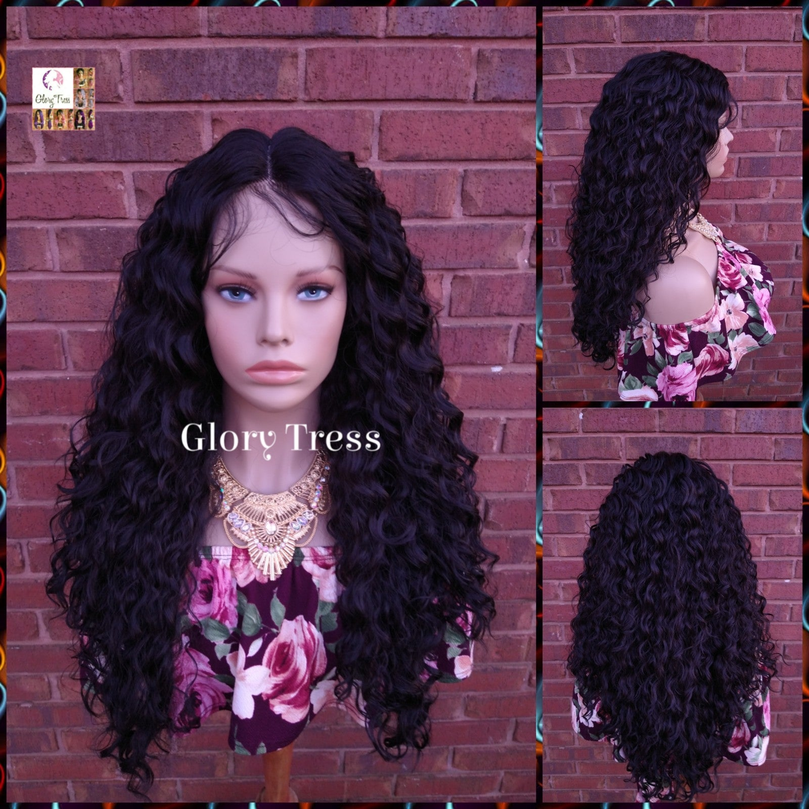 Curly Lace Front Wig, Black Curly Wig, Glory Tress,  Wigs, On Sale //ESTHER