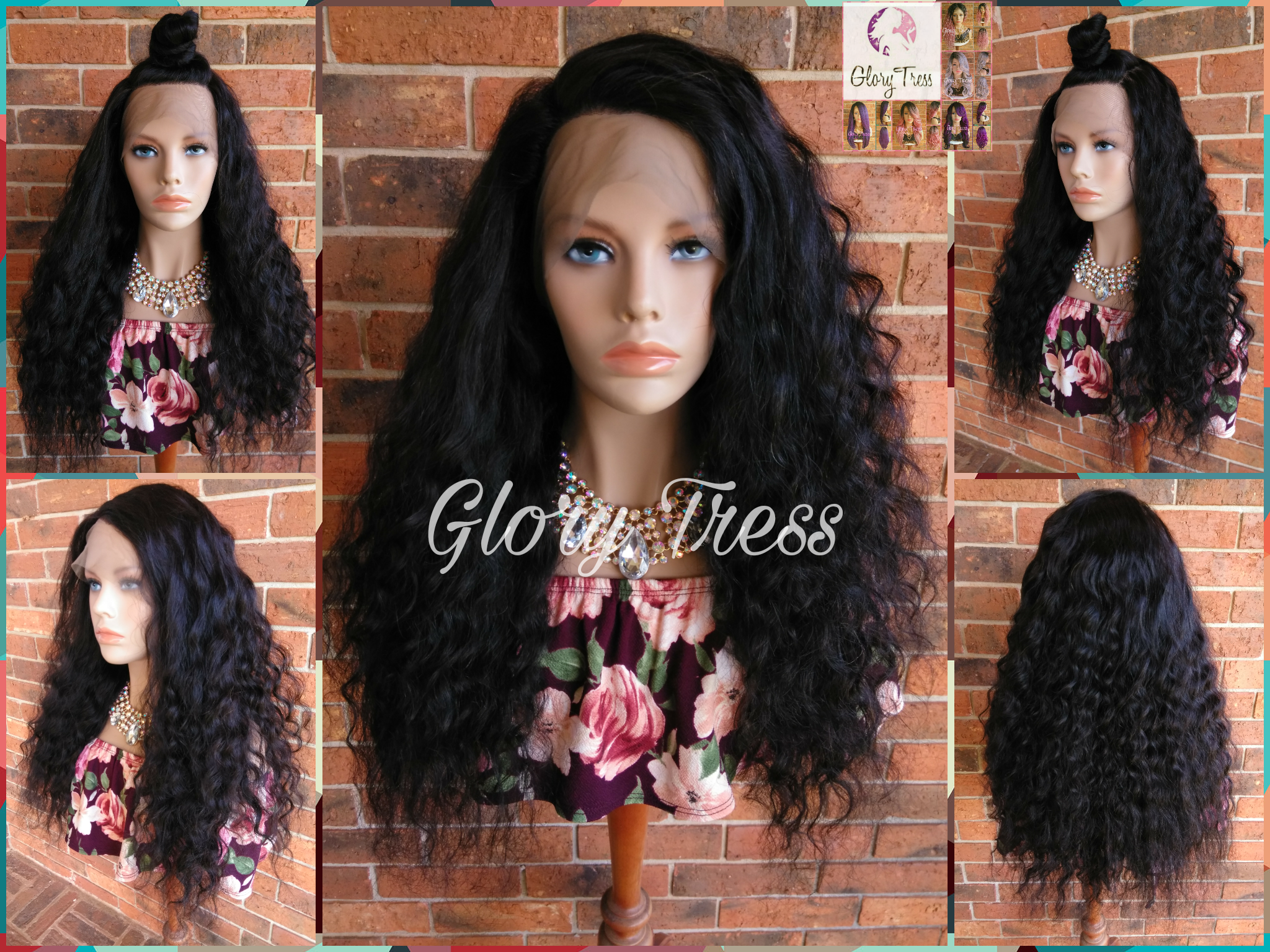 ON SALE // Long Wavy FULL Lace Wig, 100% Remy Brazilian Human Hair, Virgin Human Hair Wig, Free Parting, Swiss Lace//Famous - Glory Tress